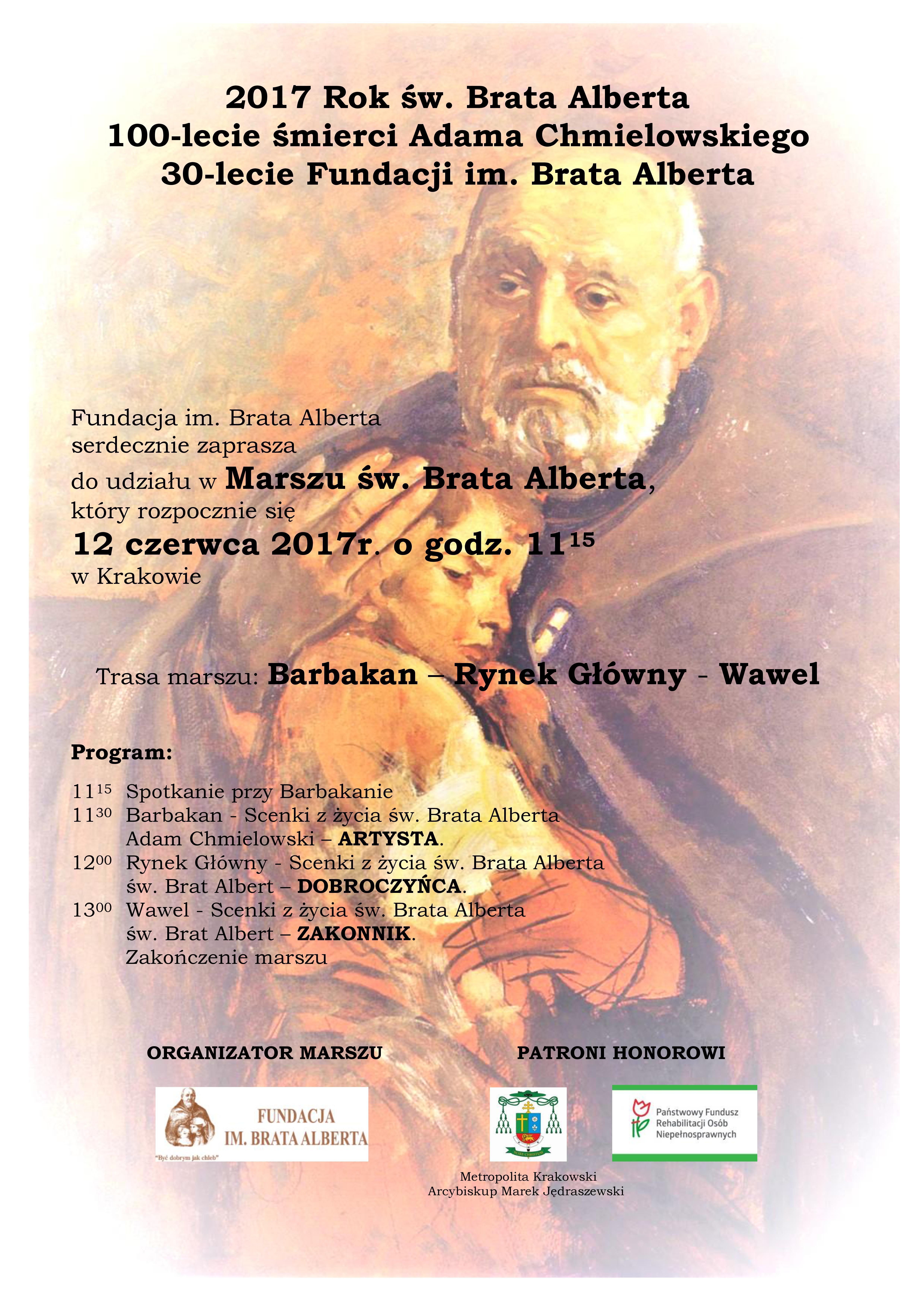 zaproszenie Marsz św. Brata Alberta