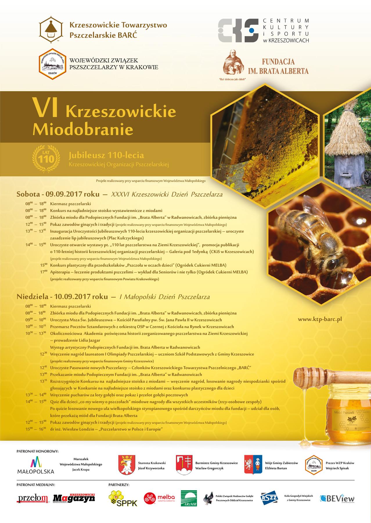 VI Krzeszowickie Miodobranie - plakat